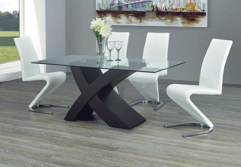 Dining Set with Black Chairs T-1092 | C-1786