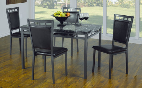 5 Pc Dinette Set Marble Top  T-1230 C-1231