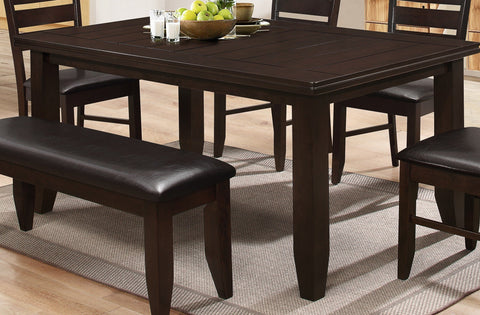 Dining Table Only - Planked Groove, Espresso T-1265