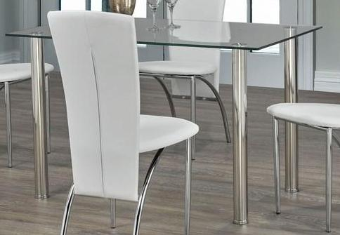 Dining Table Only - Glass with Chrome Legs T-1460