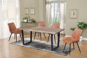 5Pc or 7Pc Dining Set Faux Live Edge Table  T-1810 | C-1825
