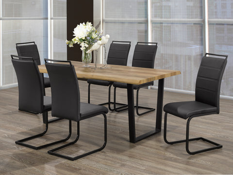 5Pc or 7Pc Dining Set Faux Live Edge Table  T-1810 | C-1865