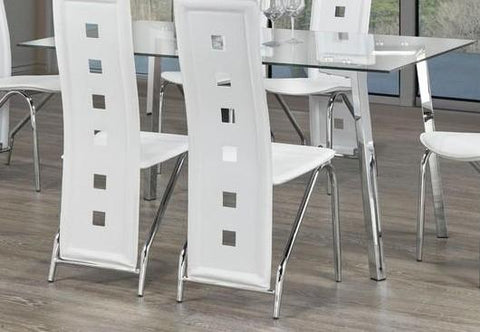 Dining Table Only - Clear Glass with Chrome Legs T-5057
