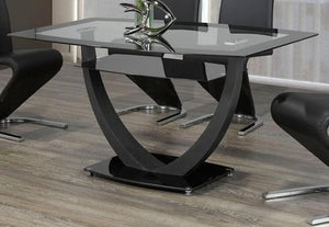 Dining Table Only - Black Glass and Metal T- 5067