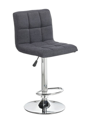 Adjustable Height Bar Stool - Dark Grey Fabric  ST-7602