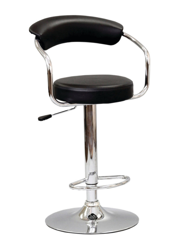Bar Stool Adjustable Height - Black  ST-7500