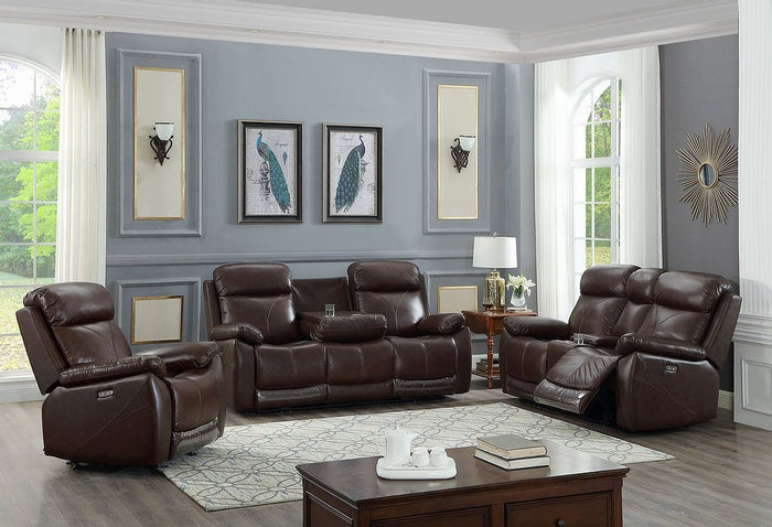 Brown 3Pc Power Recliner Set  IF-8019