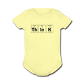 Yellow ThInK Baby Short Sleeve Periodic Table One Piece