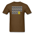 Brown BatMan Periodic Table Men's Science T-Shirt