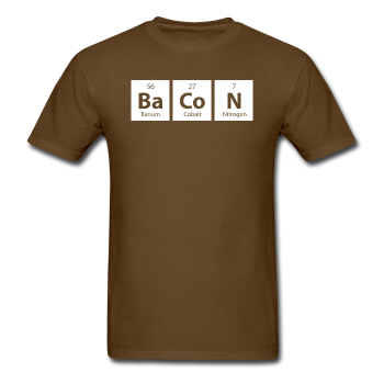 Brown BaCoN Periodic Table Men's Science T-Shirt