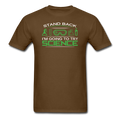 Brown Stand Back I'm Going To Try Science Men's T-Shirt
