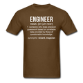 """Engineer"" (white) - Men's T-Shirt - T-Shirt - ScienceT-Shirts"