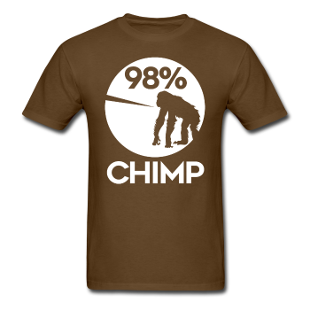 """98% Chimp"" (white) - Men's T-Shirt - T-Shirt - ScienceT-Shirts"