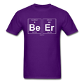 Purple BeEr Periodic Table Science Men's T-Shirt