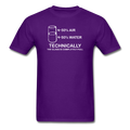 Purple Technically The Glass Is Completely Full Men's Science T-Shirt