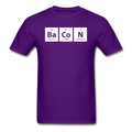Purple BaCoN Periodic Table Men's Science T-Shirt