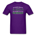 Purple Stand Back I'm Going To Try Science Men's T-Shirt
