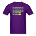 Purple BatMan Periodic Table Men's Science T-Shirt