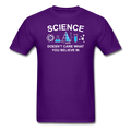Purple Science Doesn't Care What You Believe In Men's T-Shirt
