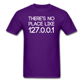 """There's No Place like 127.0.0.1"" (white) - Men's T-Shirt"