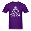 """Keep Calm and Love Your Lab Rat"" (white) - Men's T-Shirt - T-Shirt - ScienceT-Shirts"