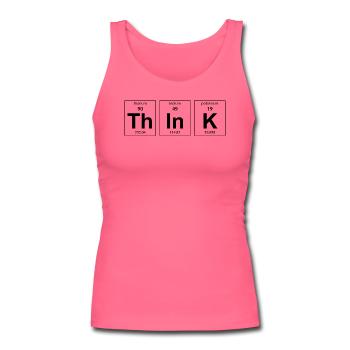 "Pink ""ThInK Periodic Table"" Women's Longer Length Fitted Tank"