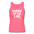 "Pink ""Queen Of The Lab"" Women's Longer Length Fitted Tank"