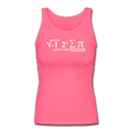 """I Ate Pi"" (white) - Women's Longer Length Fitted Tank - Tank Top - ScienceT-Shirts"