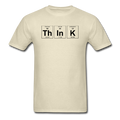 Beige Think Periodic Table Science Men's T-Shirt