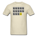 Beige BatMan Periodic Table Men's Science T-Shirt