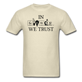 """In Science We Trust"" (black) - Men's T-Shirt - T-Shirt - ScienceT-Shirts"
