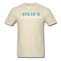 """-273.15 ºC is the Coolest"" (white) - Men's T-Shirt - T-Shirt - ScienceT-Shirts"