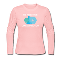"""Be Positive"" (white) - Women's Long Sleeve T-Shirt - Long Sleeve Shirt - ScienceT-Shirts"