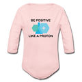 """Be Positive"" (black) - Baby Long Sleeve One Piece"