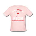 Pink Never Trust An Atom Baby Lap Shoulder T-Shirt