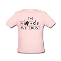 Pink In Science We Trust Baby Lap Shoulder T-Shirt