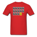 Red BatMan Periodic Table Men's Science T-Shirt