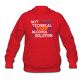 """Alcohol is a Solution"" - Women's Hoodie - Hoodie - ScienceT-Shirts"