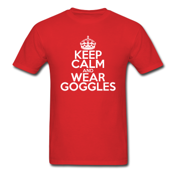 """Keep Calm and Wear Goggles"" (white) - Men's T-Shirt"
