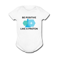 """Be Positive"" (black) - Baby Short Sleeve One Piece - One Piece - ScienceT-Shirts"
