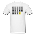 White BatMan Periodic Table Men's Science T-Shirt