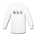 White ThInK Periodic Table Kids' Long Sleeve T-Shirt