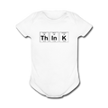 White ThInK Baby Short Sleeve Periodic Table One Piece