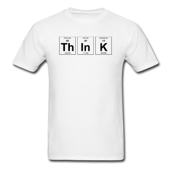 White Think Periodic Table Science Men's T-Shirt
