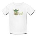 White Yoda One For Me Star Wars Kids' T-Shirt