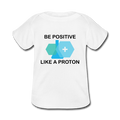 """Be Positive"" (black) - Baby Lap Shoulder T-Shirt - T-Shirt - ScienceT-Shirts"