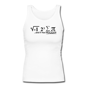 """I Ate Pi"" (black) - Women's Longer Length Fitted Tank"