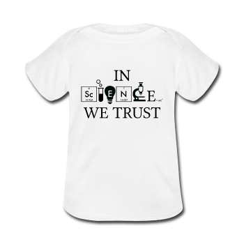 White In Science We Trust Baby Lap Shoulder T-Shirt