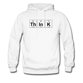 White ThInK Periodic Table Men's Hoodie