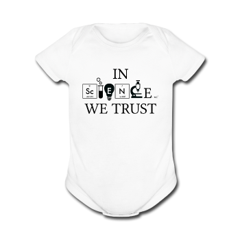White In Science We Trust Black Baby Short Sleeve One Piece